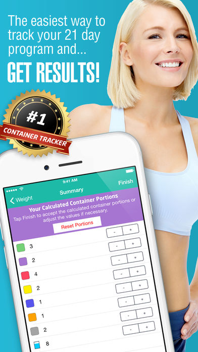 21 Day Container Tracker™ – Exercise, Diet, Weight, and Body Measurement Fix