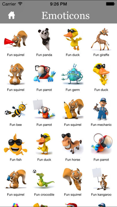 3D Emoji Characters Stickers for Chat Apps and Messengers