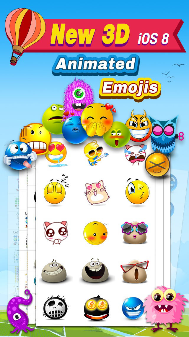Animated 3D Emoji Pro – New Animated Emojis & Emoticons Art  Keyboard