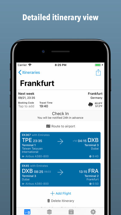 Boarding Pass – Flight Checkin