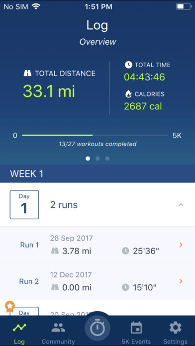 Couch to 5K® – Run training