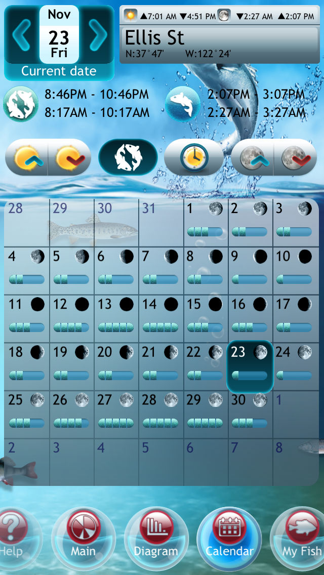 Fishing Deluxe Plus — Best Fishing Times Calendar