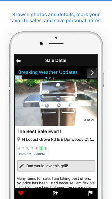 Garage Sales by Map - Free iPhone App - App Store Apps on fishing maps, mafia maps, shopping mall maps, insurance maps, livestock maps, interactive sales maps, department store maps, general maps, seattle washington coast maps, gettysburg maps, employment maps,