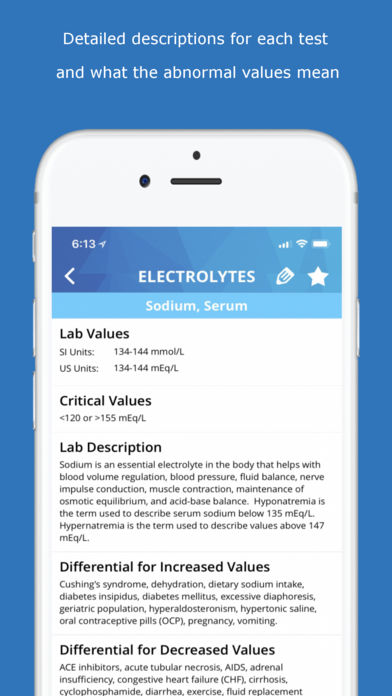 Lab Values Medical Reference
