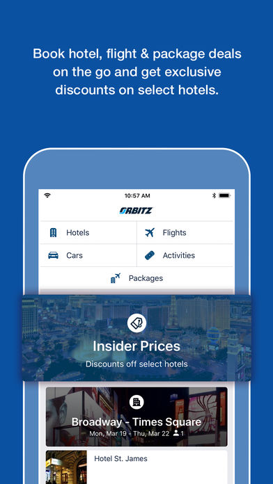 Orbitz Flight Hotel Packages Iphone App App Store Apps