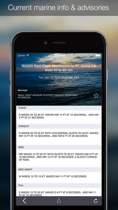 OutCast – Weather and NOAA Marine Forecasts