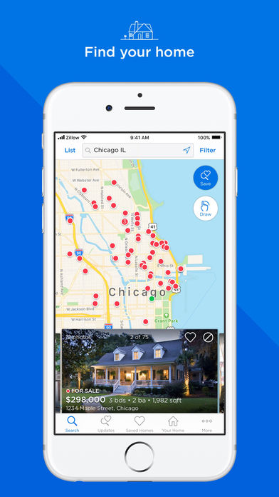 Zillow Real Estate & Rentals iPhone App - App Store Apps on zillow home values lookup, gis in real estate, zillow directions, zillow home values zillow zestimate, zillow search by map, trulia real estate, phoenix real estate,