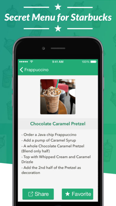 Secret Menu for Starbucks – Coffee, Frappuccino, Tea, Cold, and Hot Drink Recipes