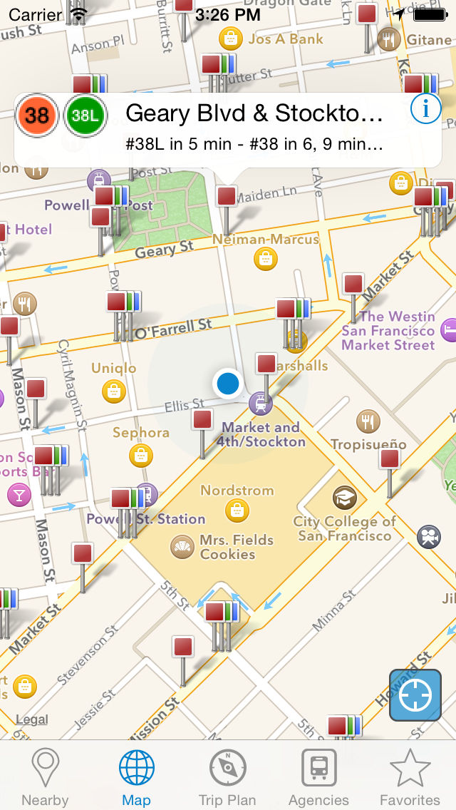 Smart Ride: Transit Directions, Real Time Predictions and Transportation Routes