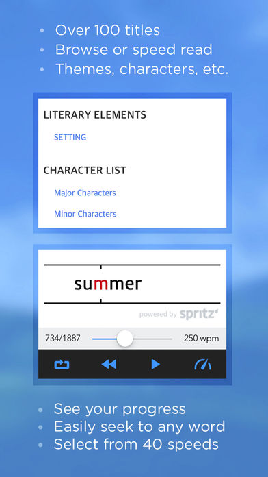 Book Notes – Summaries of Classic Literature Read Study Guides with Spritz Spark Cliffs