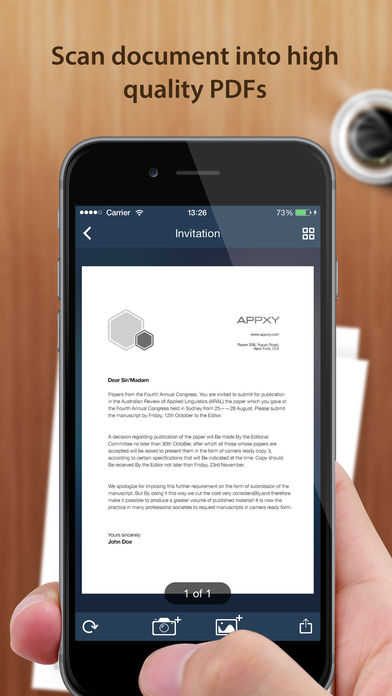 Tiny Scanner – PDF scanner to scan document, receipt & fax