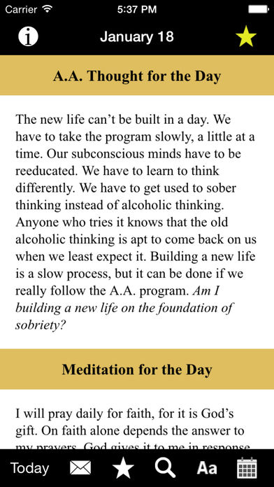 Twenty-Four Hours a Day: Recovery Meditations