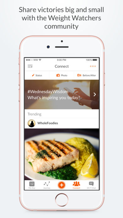how to use weight watchers app on iphone
