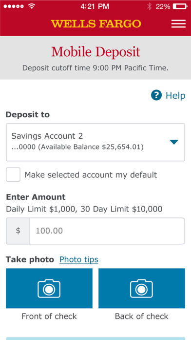What Is The Deposit Limit For Wells Fargo
